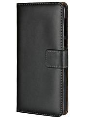 Недорогие -Кейс для Назначение Nokia Nokia 6 2018 Бумажник для карт / со стендом / Флип Чехол Однотонный Твердый Кожа PU для Nokia 6 2018
