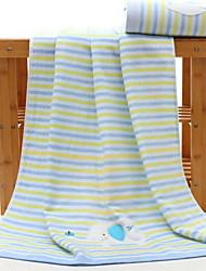 abordables -Qualité supérieure Serviette de bain / Serviette, Rayé Polyester / Coton / 100% Coton 1 pcs