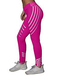 cheap -Women's Basic Sporty Legging - Striped Geometric Mid Waist