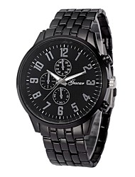 cheap -Men's Dress Watch Chinese Chronograph / Creative Stainless Steel Band Fashion Black / Silver