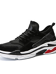 cheap -Men's Tulle Summer Sporty / Comfort Sneakers Black / Gray / Red