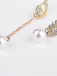 abordables -Incompatibilité Boucles d'oreille goutte - Perle Rétro, Doux, Mode Or Pour Mariage / Anniversaire