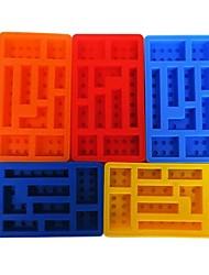 baratos -Ferramentas bakeware Silicone Faça Você Mesmo Chocolate / Gelo / Para Gelado Robô / Tijolos de brinquedo Bandeja / Moldes de bolos 1pç