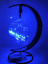 Недорогие -hkv® теплый белый rgb фиолетовый синий светодиод ретро стиль шпагат медный круглый шар моделирование свет рождественский пейзаж энергосберегающая лампа закрытый железный ночной свет