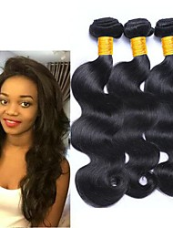 cheap -Peruvian Hair / Body Wave Wavy Human Hair Extensions 3 Bundles Human Hair Weaves Creative / Best Quality / Hot Sale Natural Black Human Hair Extensions Women's