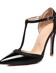 abordables -Femme Chaussures Cuir Verni Printemps été Escarpin Basique Chaussures à Talons Marche Talon Aiguille Bout pointu Argent / Rouge / Chair