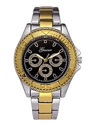 baratos -Homens Relógio Elegante Chinês Cronógrafo Aço Inoxidável Banda Criativo / Fashion Dourada