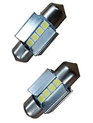 cheap -2pcs 31mm Car Light Bulbs 4W 400lm 4 LED Interior Lights For Audi / Honda / Hyundai ML400 / GLE320 / GLA220 2018 / 2017 / 2016