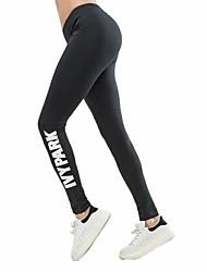 baratos -Mulheres Calças de Yoga Esportes Meia-calça Corrida, Fitness, Ginásio Roupas Esportivas Respirável, Secagem Rápida, Power Flex Elasticidade Alta