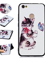 baratos -Capinha Para Xiaomi Redmi Note 5A / Redmi Note 4 Estampada Capa traseira Gato / Borboleta Macia TPU para Redmi Note 5A / Xiaomi Redmi Note 4 / Redmi 5A / Xiaomi Redmi 4A / Xiaomi Mi 6