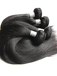 baratos -4 pacotes Cabelo Brasileiro / Pacotes Liso Cabelo Virgem / Cabelo Remy Extensões de Cabelo Natural Tramas de cabelo humano Nova chegada / Venda imperdível / Para Mulheres Negras Côr Natural Extensões