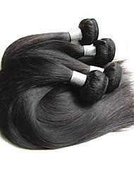 cheap -4 Bundles Brazilian Hair Straight Virgin Human Hair / Remy Human Hair Human Hair Extensions Natural Color Human Hair Weaves New Arrival / Hot Sale / For Black Women Human Hair Extensions Women's