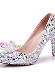 baratos -Mulheres Sapatos Glitter Outono Plataforma Básica Conforto Saltos Salto Agulha para Casual Arco-íris