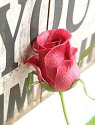 baratos -Flores artificiais 1 Ramo Rústico / Casamento Orquideas / Rosas / Flores eternas Flor de Mesa