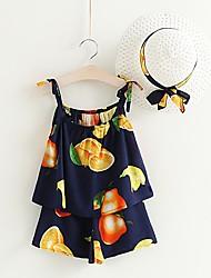 cheap -Kids / Toddler Girls' Fruit Sleeveless Clothing Set