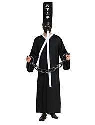 abordables -Ange et Diable Costume Unisexe Halloween / Le jour des morts Fête / Célébration Déguisement d'Halloween Noir Couleur Pleine / Halloween Halloween