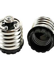cheap -2pcs E40 to E27 E26 / E27 220 V Bulb Accessory Light Socket Aluminum / Plastic