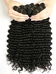 cheap -Indian Hair Wavy Human Hair Weaves 50g x 4 Hot Sale Extention Human Hair Extensions All Christmas Gifts Christmas Wedding Party Special
