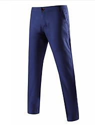 economico -Per uomo Essenziale Taglie forti Cotone Da completo Pantaloni - Tinta unita / Ufficio
