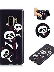 baratos -Capinha Para Samsung Galaxy S9 Ultra-Fina / Adorável Capa traseira Panda Macia TPU para S9