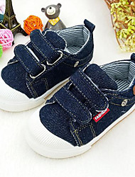 Недорогие -Мальчики Обувь Полотно Весна Удобная обувь Кеды На липучках для Темно-синий / Светло-синий