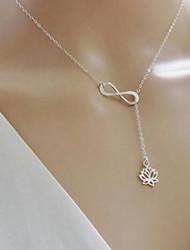 preiswerte -Damen Dicke Kette Ketten / Y Halskette - Blumen / Botanik, Blume, Unendlichkeit Gold, Silber 45 cm Modische Halsketten Für Alltag