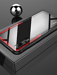 Недорогие -Кейс для Назначение Huawei P20 Pro / P20 lite Защита от удара / Прозрачный Кейс на заднюю панель Однотонный Твердый Закаленное стекло для