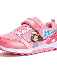 cheap -Girls' Shoes PU Summer Comfort / Flower Girl Shoes Flats Magic Tape for Kids Beige / Purple / Peach