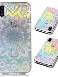Недорогие -Кейс для Назначение Apple iPhone X / iPhone 8 Plus Покрытие / Прозрачный / С узором Кейс на заднюю панель Мандала Мягкий ТПУ для iPhone X / iPhone 8 Pluss / iPhone 8