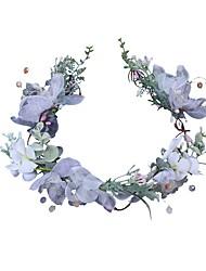 cheap -Polyester Headpiece with Acrylic / Flower 1pc Wedding / Birthday Headpiece