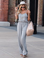 cheap -Women's Basic Jumpsuit - Solid Colored, Backless