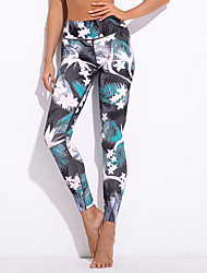 cheap -Women's Basic Legging - Floral Geometric Mid Waist