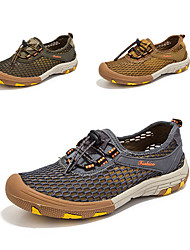 cheap -Men's Hiking Shoes Anti-Slip, Quick Dry, Wearable Breathable Mesh Camping / Hiking / Hunting / Fishing Brown / Grey / Khaki