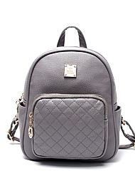 Недорогие -Жен. Мешки PU рюкзак Молнии Черный / Розовый / Серый
