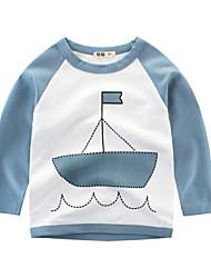 economico -Bambino Da ragazzo Con stampe Manica lunga T-shirt