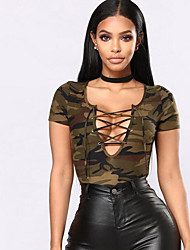 cheap -Women's Basic Tank Top - Camouflage