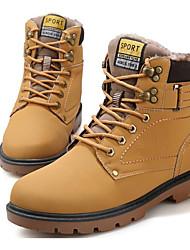 Недорогие -Муж. обувь Искусственное волокно Зима Армейские ботинки Ботинки Ботинки Черный / Темно-русый / Темно-коричневый