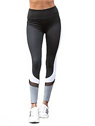 baratos -Mulheres Calças de Yoga Esportes Multi-Côr Meia-calça Corrida, Fitness, Ginásio Roupas Esportivas Respirável, Secagem Rápida, Power Flex Elasticidade Alta