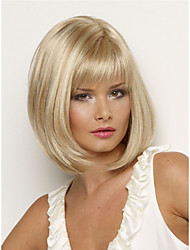 cheap -Gifts / Synthetic Wig Straight Blonde Pixie Cut / Side Part Synthetic Hair Heat Resistant / New Arrival Blonde Wig Women's Short Capless / Yes