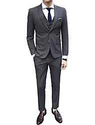cheap -Men's Suits-Solid Colored Notch Lapel / Long Sleeve / Work