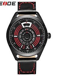 Недорогие -WEIDE Муж. Нарядные часы Японский Защита от влаги / Творчество / Крупный циферблат Натуральная кожа Группа Роскошь / Мода Черный