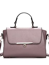 cheap -Women's Bags leatherette / PU Tote Zipper Red / Light Purple / Light Grey