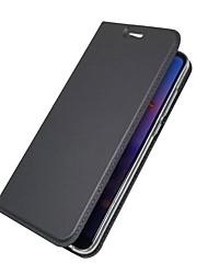 Недорогие -Кейс для Назначение Huawei P20 lite / P20 Бумажник для карт / Кошелек / Флип Чехол Однотонный Твердый Кожа PU для Huawei P20 lite /
