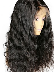 cheap -Remy Human Hair Full Lace Wig Brazilian Hair Wavy Wig Layered Haircut 130% With Baby Hair / Natural Hairline Black Women's Short / Long / Mid Length Human Hair Lace Wig