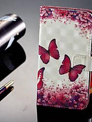 baratos -Capinha Para Huawei P20 Pro / P20 lite Carteira / Porta-Cartão / Com Suporte Capa Proteção Completa Borboleta Rígida PU Leather para Huawei P20 / Huawei P20 Pro / Huawei P20 lite