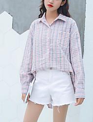 abordables -Mujer Vintage Borla Camiseta Un Color Grúa