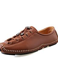 abordables -Homme Chaussures Faux Cuir Printemps / Eté Confort / Chaussures de plongée Mocassins et Chaussons+D6148 Argent / Marron / Rouge