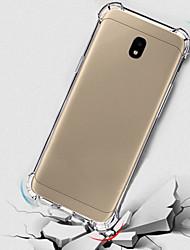 baratos -Capinha Para Samsung Galaxy J7 (2017) / J5 (2017) Antichoque / Translúcido Capa traseira Sólido Macia TPU para J7 (2017) / J5 (2017) / J3 (2017)