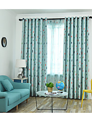 cheap -Blackout Curtains Drapes Kids Room Geometric / Cartoon / Contemporary Polyester Printed