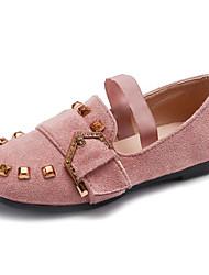 economico -Da ragazza Scarpe Vellutato Primavera Comoda / Scarpe da cerimonia per bambine Ballerine per Nero / Rosa / Cachi